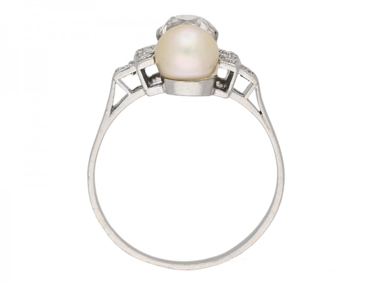 art deco pearl diamond ring hatton garden berganza