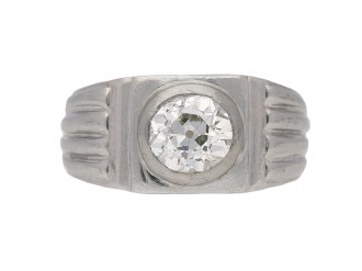 front view art deco diamond ring hatton garden berganza