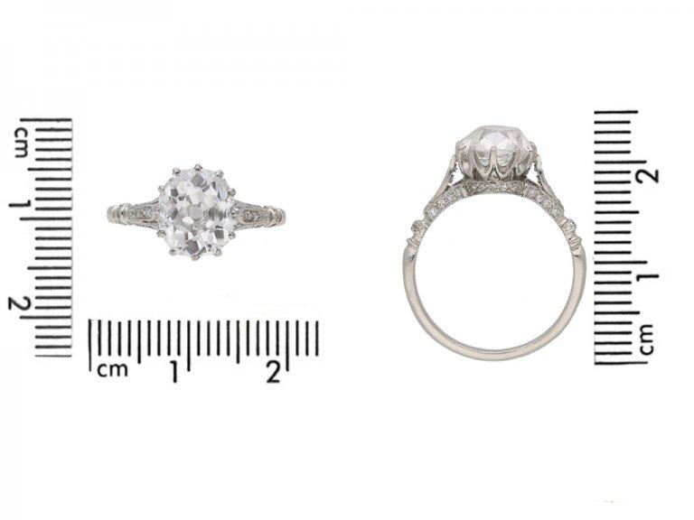 front view Art Deco diamond ring berganza hatton garden