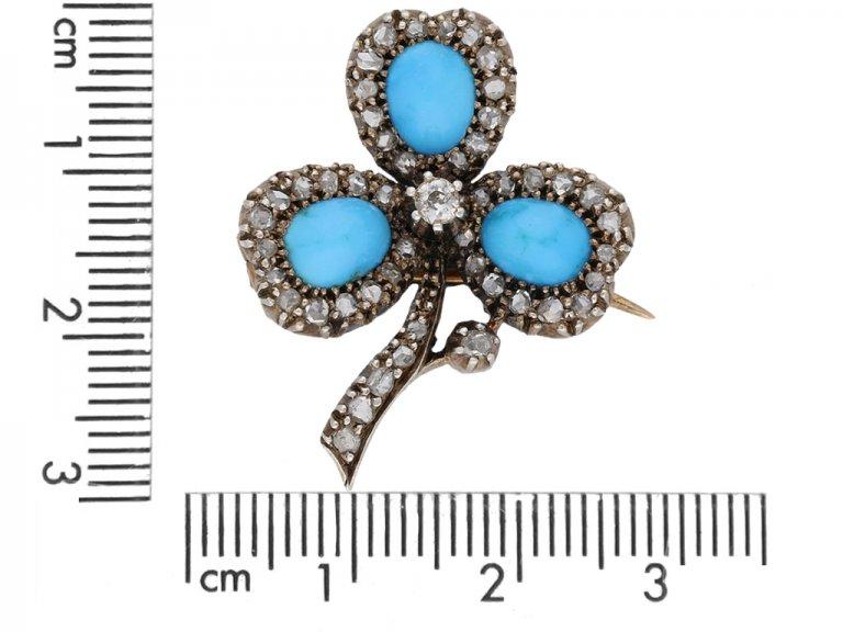 antique diamond turquoise brooch berganza hatton garden