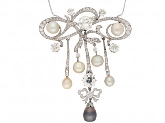 diamond natural pearl brooch hatton garden berganza