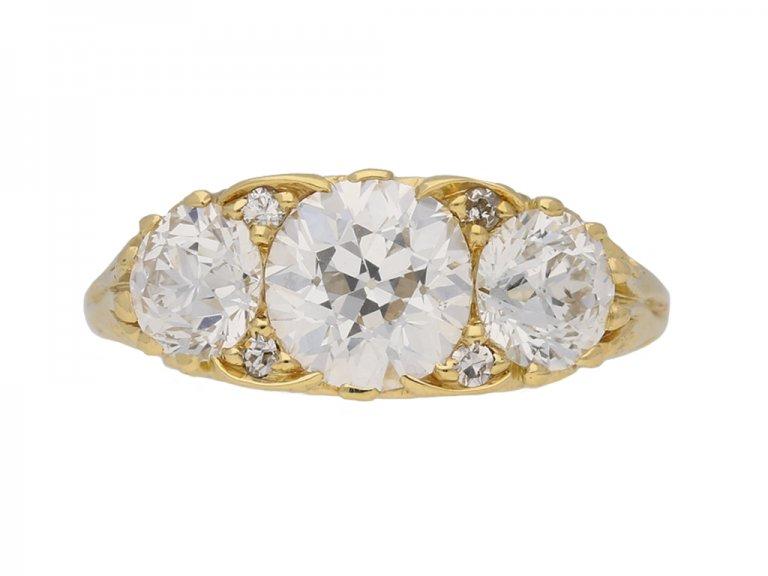 ront view antique diamond carved ring berganza hatton garden