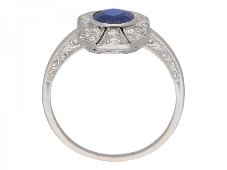 antique diamond sapphire ring hatton garden berganza