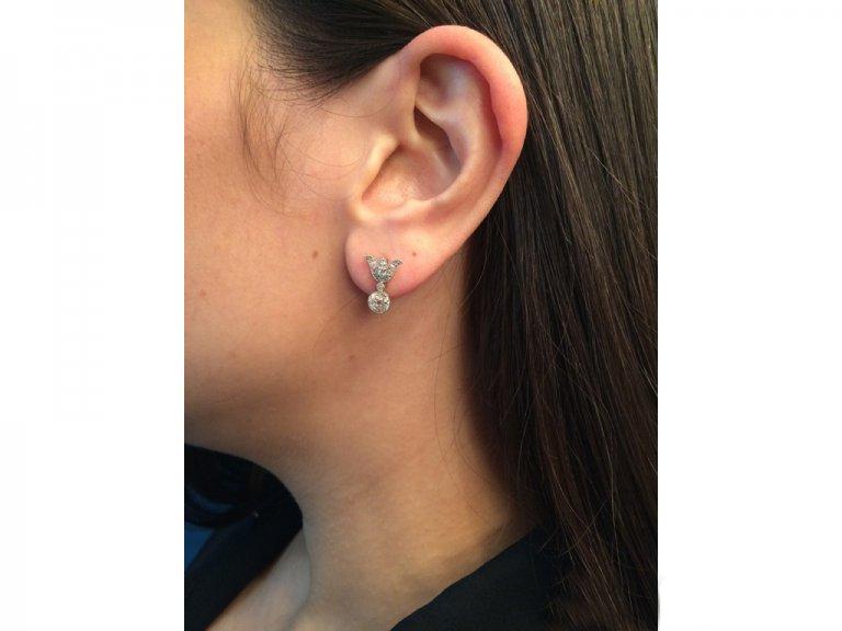antique diamond stud earrings berganza hatton garden