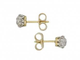 Edwardian diamond stud earrings berganza hatton garden