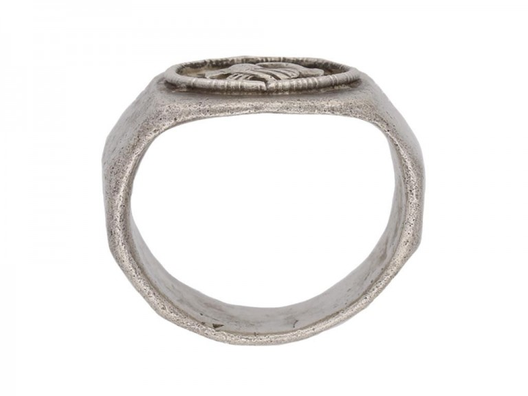 Ancient Roman silver ring berganza hatton garden