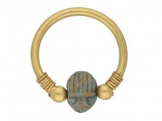 Egyptian scarab swivel ring berganza hatton garden