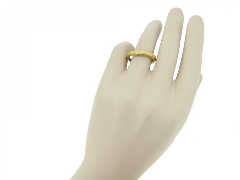 Viking gold twisted ring berganza hatton garden