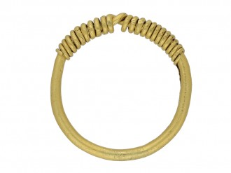 ancient gold braided ring berganza hatton garden