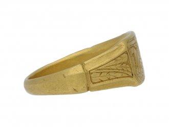 Medieval iconographic ring berganza hatton garden