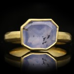 Post Medieval sapphire ring, English, circa 17th century AD.