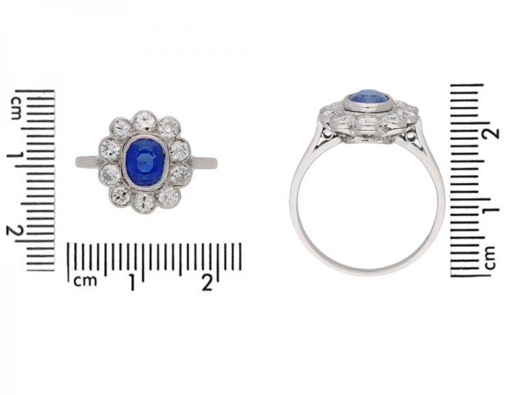 size view kashmir sapphire diamond ring berganza hatton garden