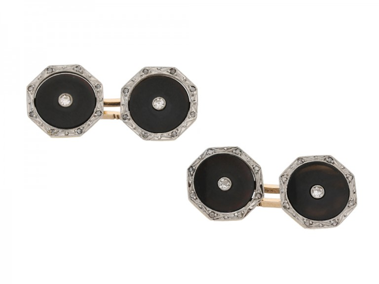 antique diamond onyx dress set berganza hatton garden