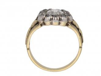 front view georgian cluster diamond ring berganza hatton garden