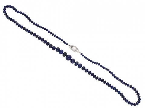 front  antique cartier diamond sapphire necklace berganza hatton