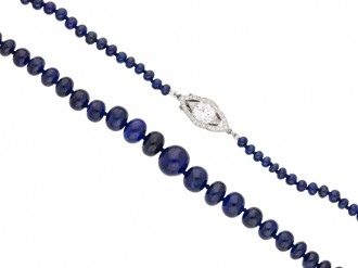 front  antique cartier diamond sapphire necklace berganza hatton