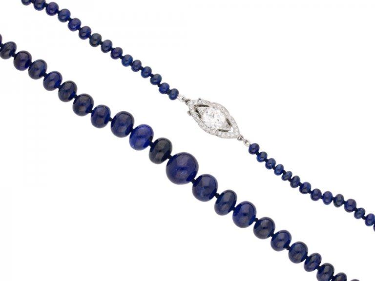 antique cartier diamond sapphire necklace berganza hatton