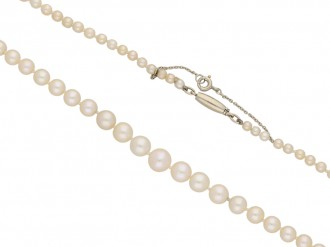 Vintage natural pearl necklace berganza hatton garden
