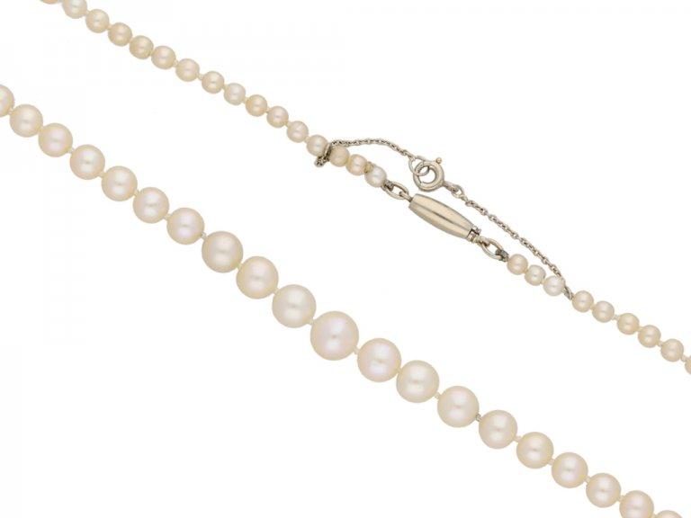 Vintage natural pearl necklace berganza hatton garden