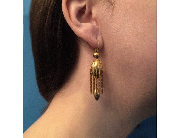 Victorian drop earrings berganza hatton garden