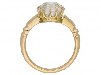 front view antique diamond gold ring berganza hatton garden
