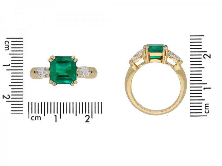 vintage emerald diamond ring berganza hatton garden