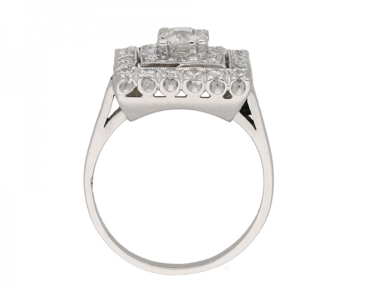 vintage diamond cluster ring berganza hatton garden