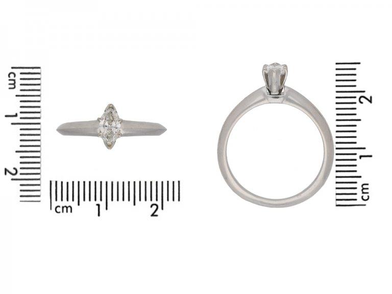 Tiffany Co diamond marquise ring berganza hatton garden