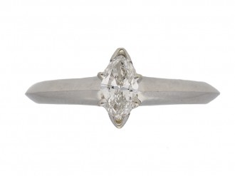 front Tiffany Co diamond marquise ring berganza hatton garden