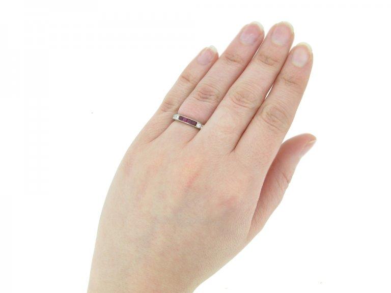 art deco ruby diamond ring berganza hatton garden