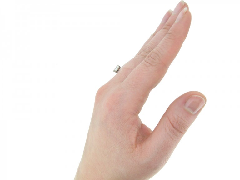 vintage diamond three stone ring berganza hatton garden