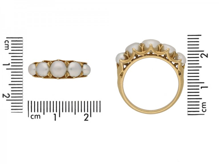 antique natural pearl ring berganza hatton garden