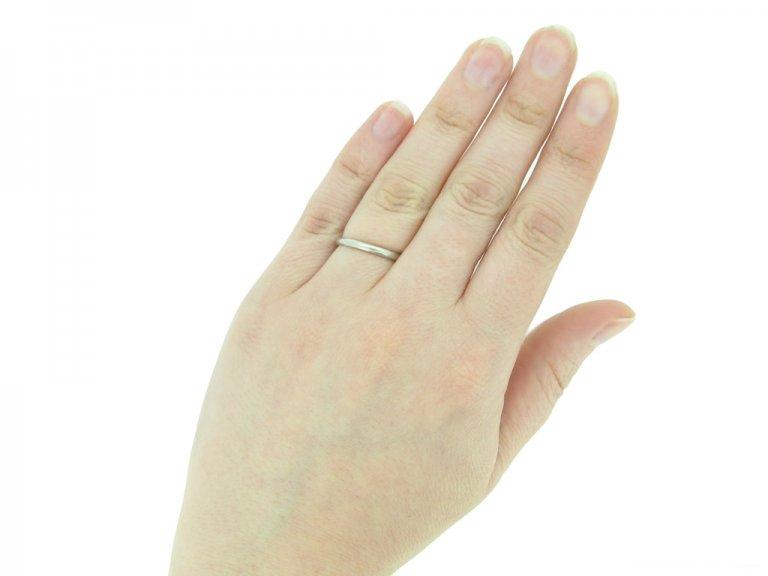 vintage platinum wedding ring berganza hatton garden