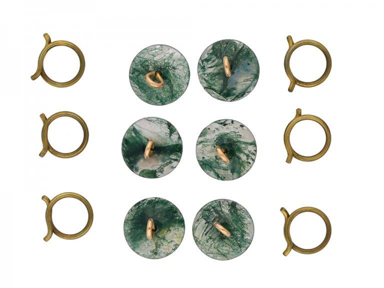 Victorian moss agate buttons berganza hatton garden