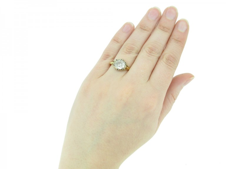 front antique diamond engagement ring berganza hatton garden`