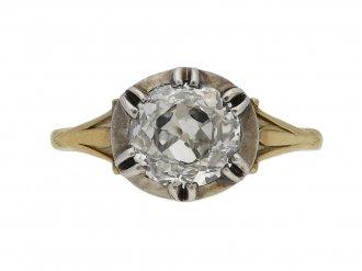 front antique diamond engagement ring berganza hatton garden`