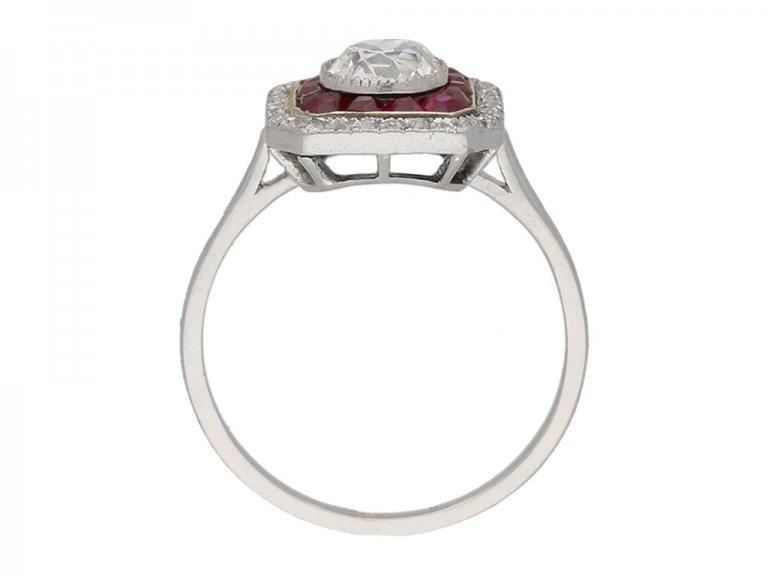 antique ruby diamond ring berganza hatton garden