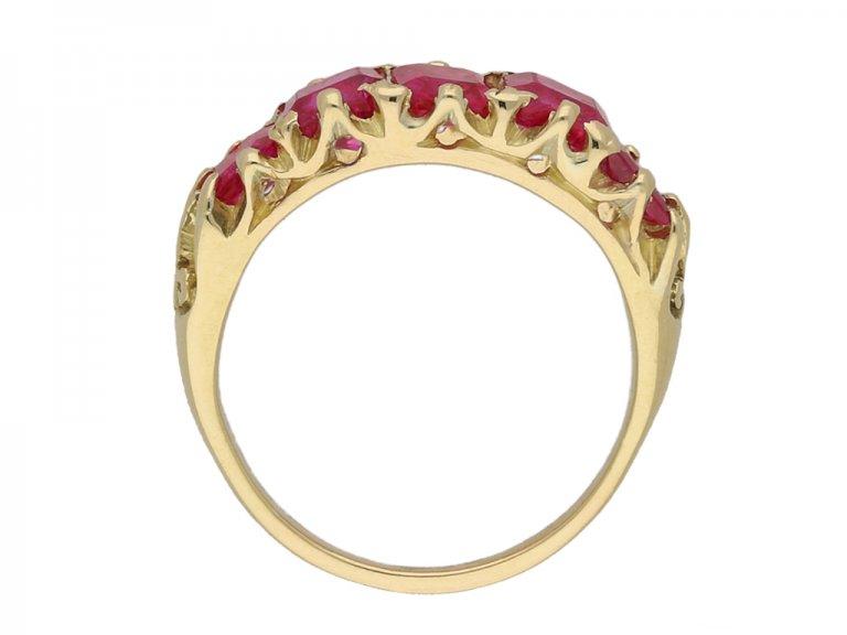 antique ruby 5 stone ring berganza hatton garden