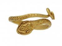 front Ancient Egyptian snake ring berganza hatton garden