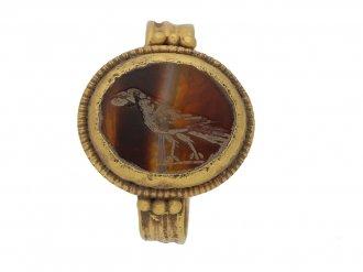 front ancient roman itaglio ring berganza hatton garden