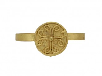 front ancient Byzantine gold ring berganza hatton garden