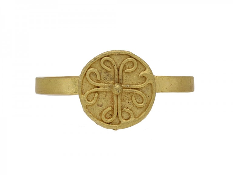front ancient Byzantine gold ring berganza hatton garden