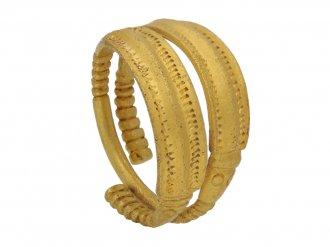 front Pre Viking gold ring berganza hatton garden