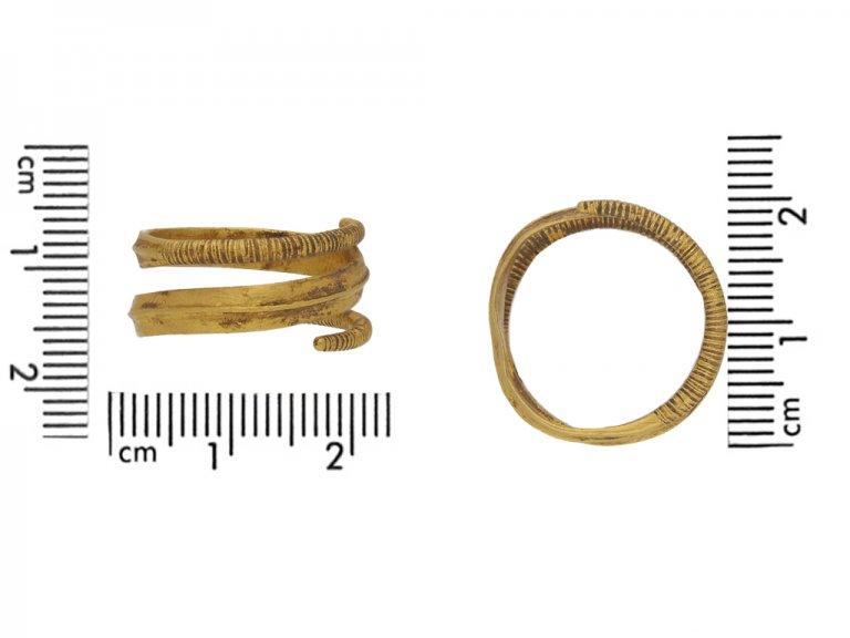 Viking gold coiled ring berganza hatton garden