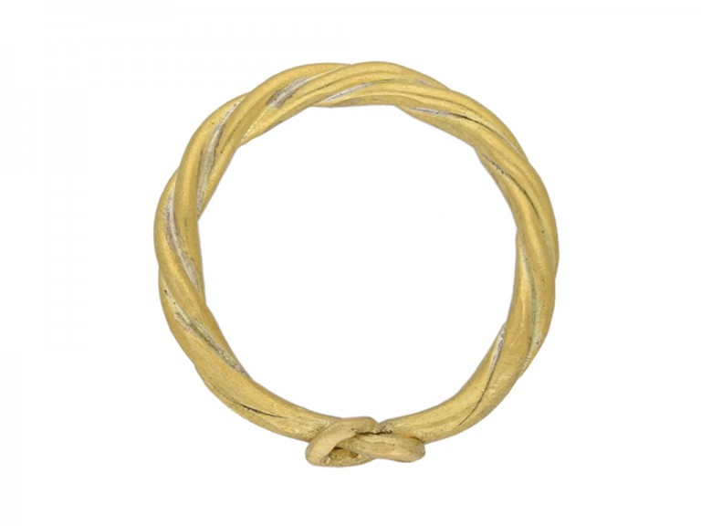 ancient viking twisted gold ring berganza hatton garden