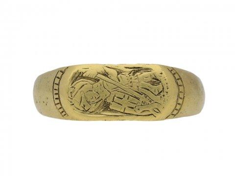 ront Medieval gold fede ring berganza hatton garden