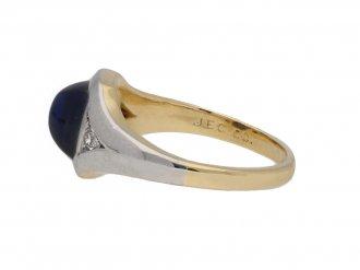 J E Caldwell sapphire diamond ring berganza hatton garden
