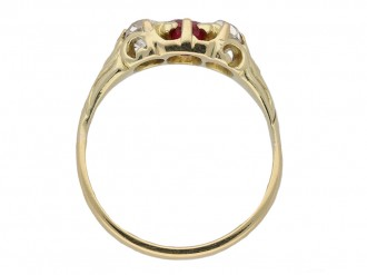 front Antique ruby diamond carved ring hatton garden garden