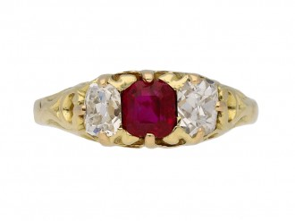 Antique ruby diamond carved ring hatton garden garden