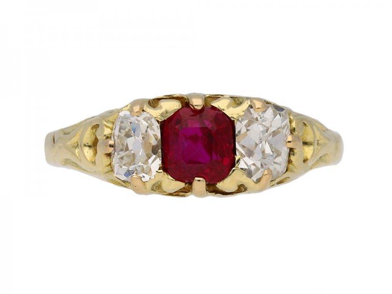 Antique ruby diamond carved ring hatton garden garden